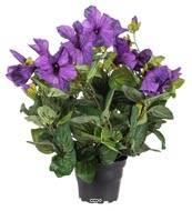 Petunia artificiel Mauve en pot H 38 cm 20 fleurs lumineux