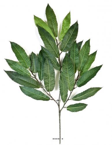 Branche de chataignier artificiel H 54 cm 23 feuilles