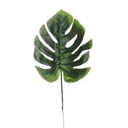 Feuille de Philodendron artificielle en tissu enduit H 39 cm