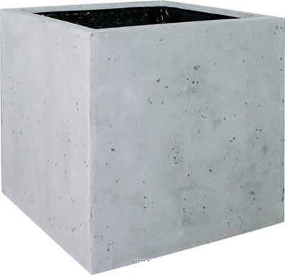 Bac en Polystone Roma Ext. Cube L 18x 18 x H 18 cm Gris ciment