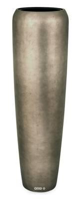 Bac résine synthétique et feuille d'argent Ø 34 cm H 75 cm Int. colonne métal bronze