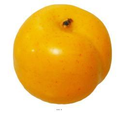 Abricot Artificiel fruit factice lesté H 6 cm