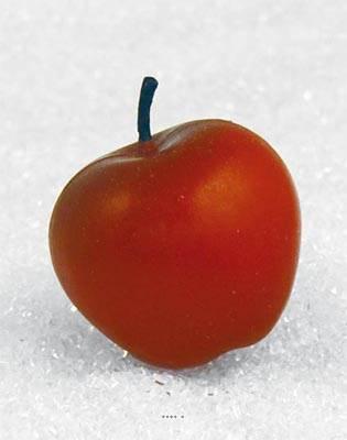 Pomme artificielle moyenne Rouge X 3 en Plastique soufflé H 65x75 mm