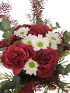Bouquet hivernal artificiel création fleuriste H 75 cm