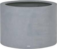 Bac fibres de verre et plastique renforcé Ø 48 cm H 30 cm Ext. cylindre gris mat