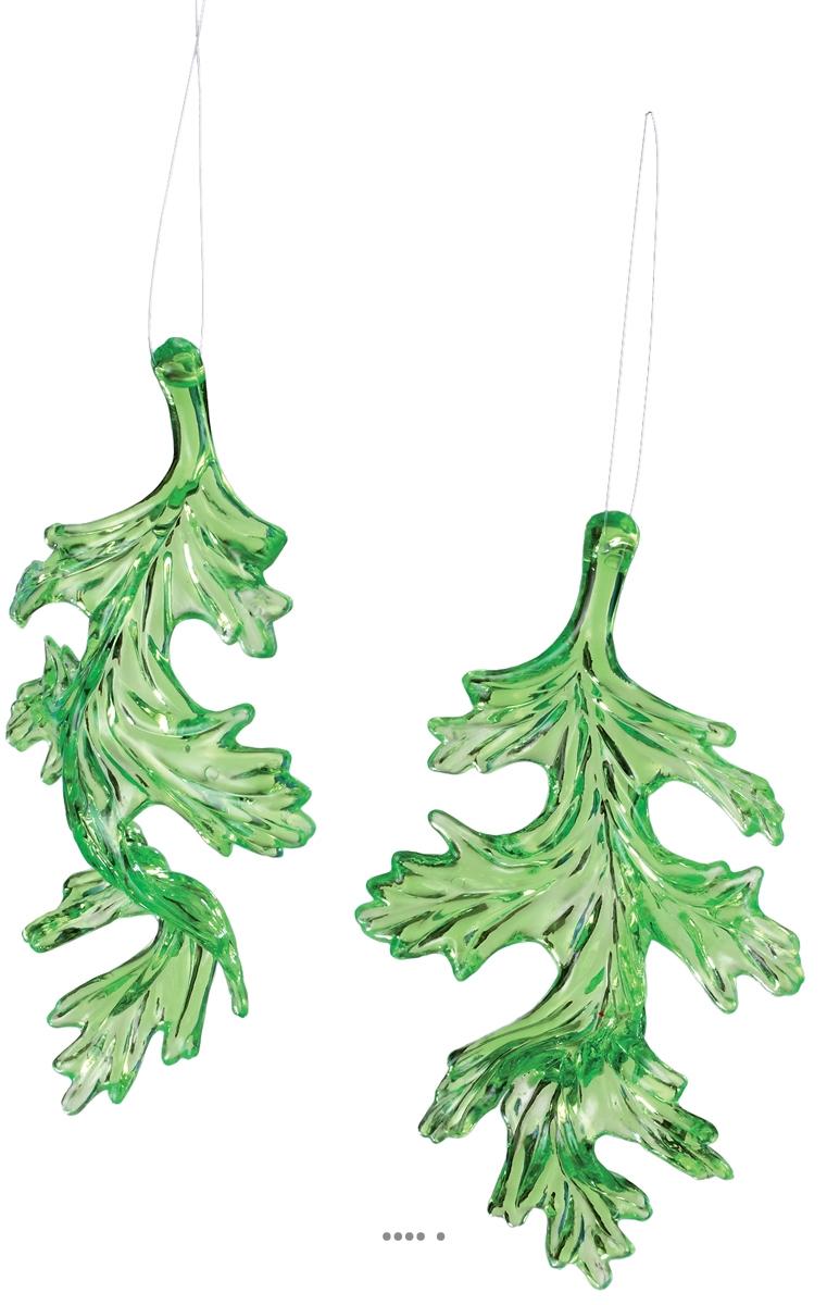 Feuilles Aqua vertes 2 pcs par sac 14cm artificielle