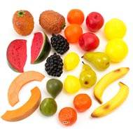 Fruits artificiels assortis en lot de 24 en Plastique soufflé