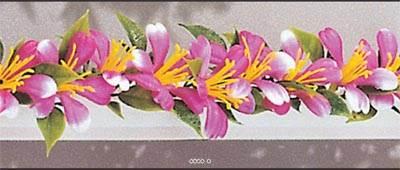 Barrette X 12 entre plats separateurs socle blanc L 25 cm fleurs de prunier artificielles