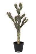 Cactus Opuntia artificiel cactée en pot dense et Superbe Qualité Pro H 70 cm Vert aloe