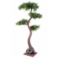 Bonsaï Podocarpus Artificiel H 100 cm D 70 cm en pot