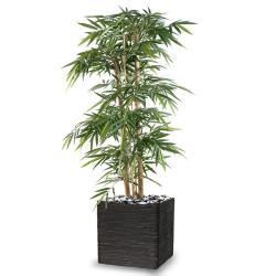 Bambou Artificiel grosses cannes en pot H 150 cm Vert