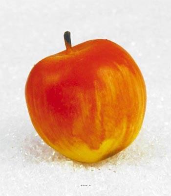 Pomme artificielle Jaune rouge X 3 Plastique soufflé D 80 mm