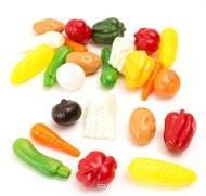 Legumes petits artificiels assortis en lot de 24 en Plastique soufflé