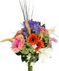 Bouquet artificiel création fleuriste malice coloré H 95 cm