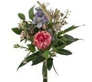 Bouquet de fleurs des champs artificielles Rose H 48 cm D 30 cm