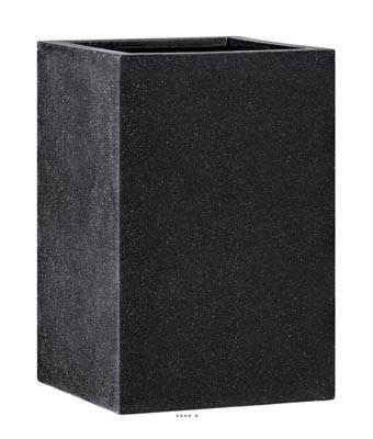 Bac fibres de verre et composite Ext. carré haut 75 cm 75 cm H 92 cm noir