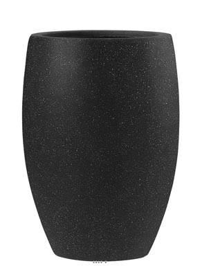 Bac Fibre de verre et composite Teras Exterieur Bullet D 33 xH 47cm Noir