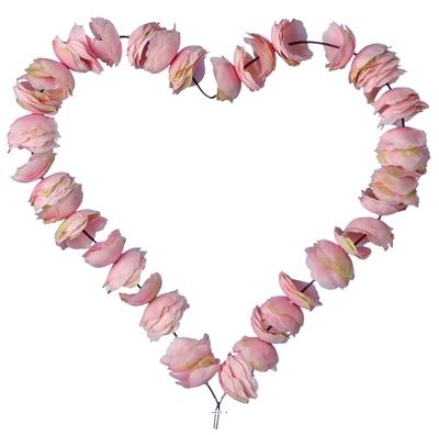 Coeur Rose petale artificiel D 23cm