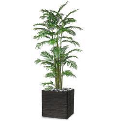 Areca Artificiel Palmier en pot H 120 cm multi-troncs
