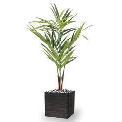 Palmier Kentia artificiel en pot tronc semi-naturel H 120 cm 6 palmes