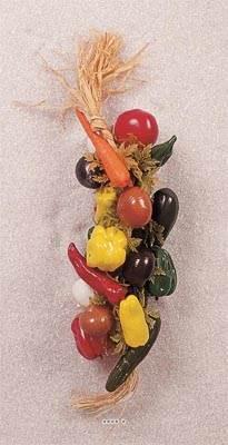Grappe de 20 legumes artificiels en Plastique soufflé L 50 cm