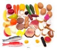Aliments nourriture assortis en lot de 48 en Plastique soufflé