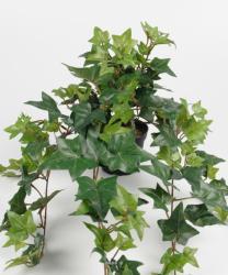 Lierre artificiel Vert en chute L 60 cm en pot 9 ramures dense H 20 cm