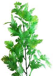 Piquet de feuilles de philodendron artificielles H 45 cm plastique exterieur vert