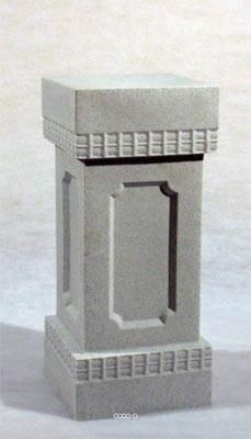 Colonne socle artificielle marbre Plastique soufflé H 800 x L 400 mm