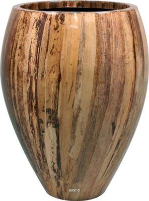 Bac Fibre de verre Banana Int. Bullet D 40 x H 60 cm Marron