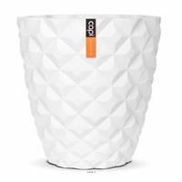 Bac en fibres de verre Int. vase 38x40 cm blanc