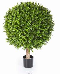 Boule de buis artificiel H 65 cm D 50 cm 1548 feuilles Int Ext en pot