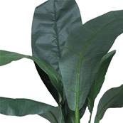 Bananier artificiel en pot 2 troncs H 120 cm réaliste