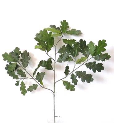 Branche de chene Artificielle H 70 cm 42 feuilles feu retardant