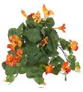 Capucine fleurie artificielle en pot H 25 cm
