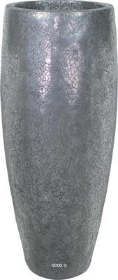 Bac en composites Vie Ext. Colonne ronde D 50 x H 120 cm Argent
