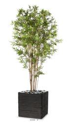 Bambou du Japon Oriental artificiel H 210 cm 4057 feuilles en pot