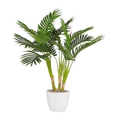Palmier Kentia artificiel H 70 cm 3 troncs en pot