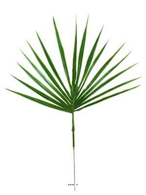 Feuille palmier Chamaerops X12 artificielle H 44 cm D 34 cm Plastique exterieur