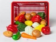 Panier de 27 legumes artificiels assortis en Plastique soufflé