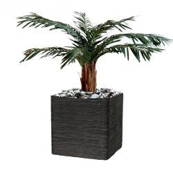 Palmier Artificiel Cycas en pot tronc Haut H 80 cm Vert