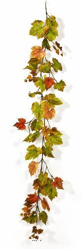 Guirlande de feuilles de Vigne artificielles couleurs d'automne L 180 cm