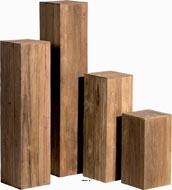Socle en Teck recycle Teck Int. Socle L 40x 40 x H 50 cm Marron