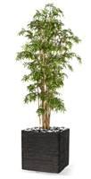 Bambou du Japon artificiel cannes fines en pot 2358 feuilles H 140 cm