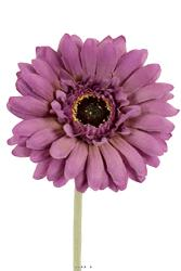 Gerbera artificiel H 55 cm D 10 cm superbe tete tissu Mauve violet