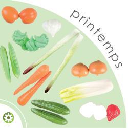 Lot 21 Fruits et Legumes artificiels de Printemps en plastique soufflé
