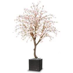 Cerisier artificiel en fleur H 280 cm branches en bois