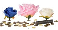 Supports collants Tete de fleur X24 +double face X24+ Aimant X24 D 1 50 cm