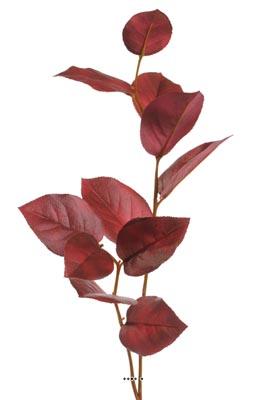 Branche de Pommier artificiel H 72 cm bourgogne feuillage tissu