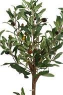 Olivier artificiel en pot H 65 cm Tronc bois avec ses olives très réaliste